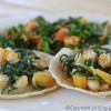 Chickpea Tacos with Gingery Garden Salad
