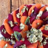 Beet and Carrot Carpaccio with Homemade Pesto Goat Cheese