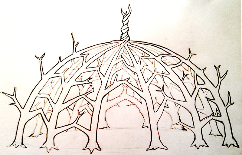 Living Dome Concept Sketch