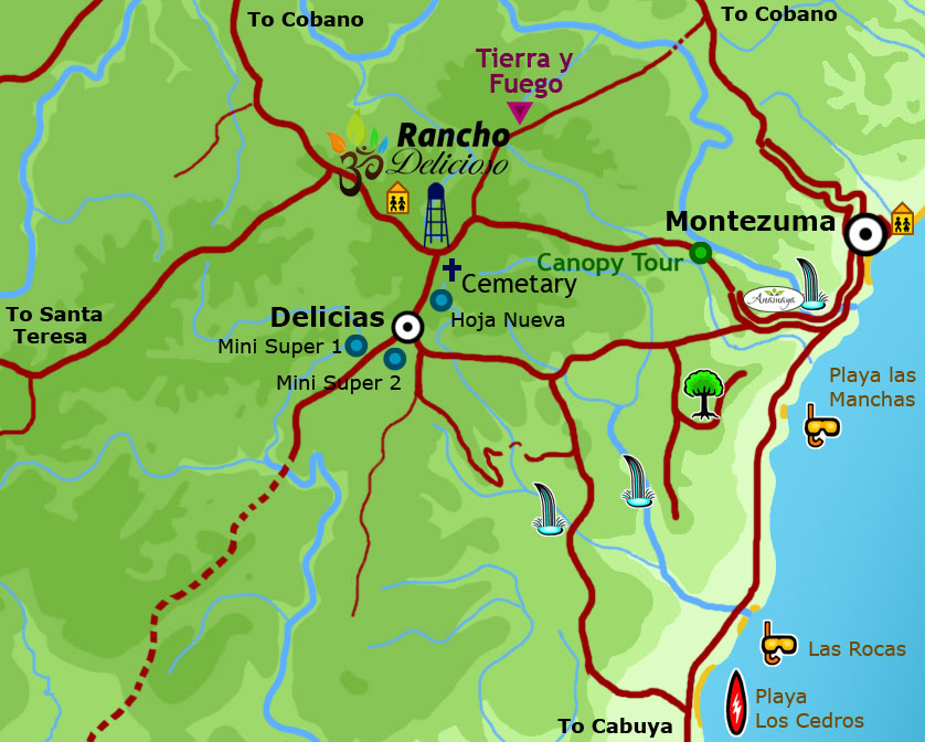 Map of Delicias, Montezuma