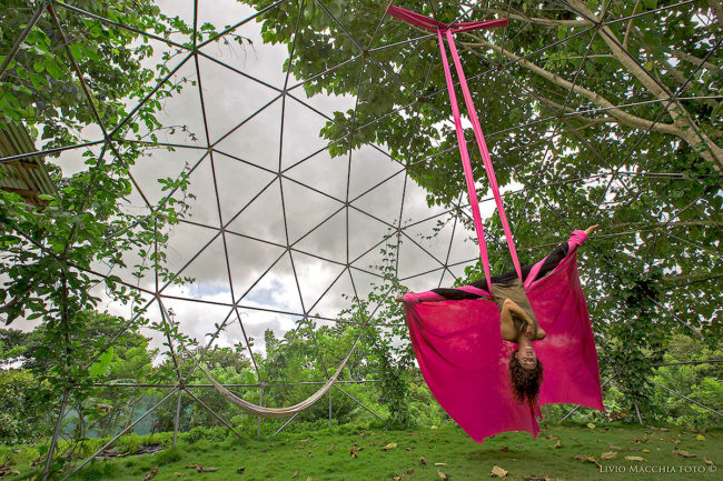 Aerial Silk Dancer in our Dome - Photo by Livio Macchia