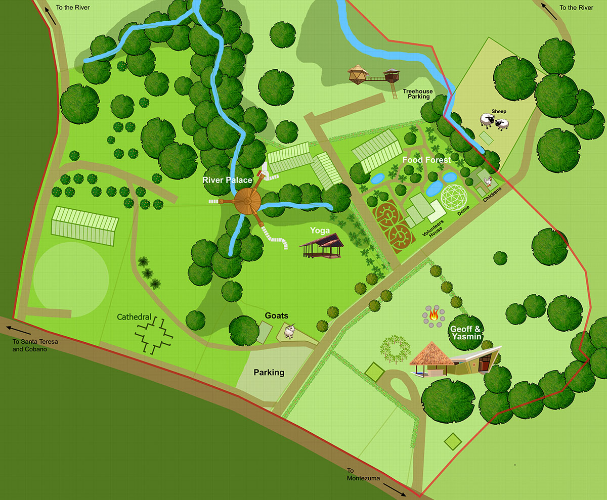 Map of the Center of the Farm