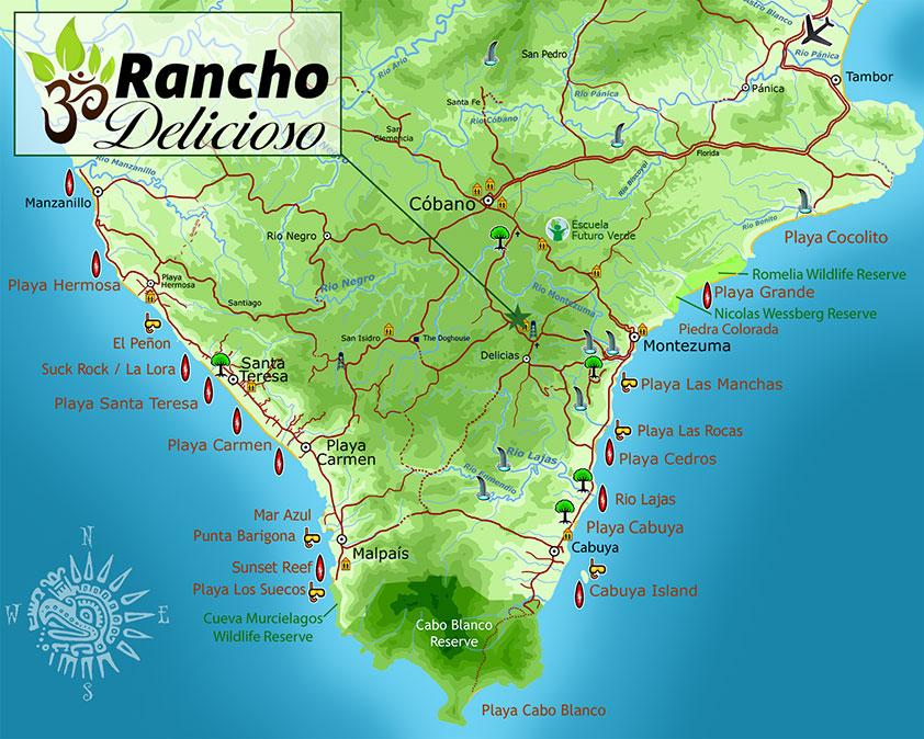 Southern Nicoya Peninsula Map